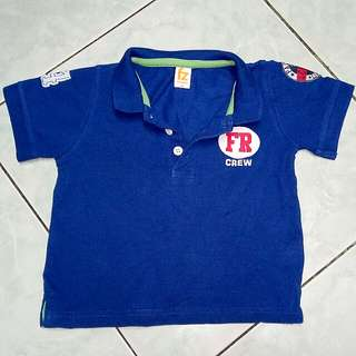 Blue Poloshirt for Kids