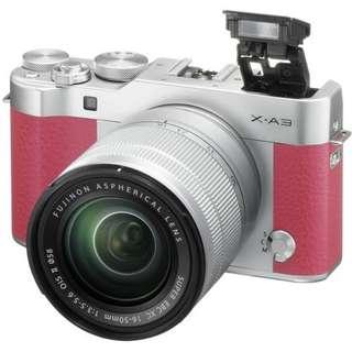 Fujifilm X-A3 kit XC16-50mm Pink kredit tanpa kartu kredit