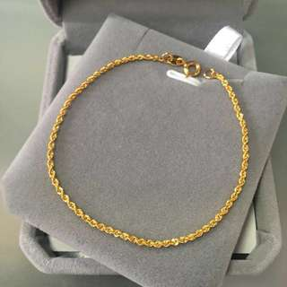 18k Yellow Gold bracelet手鍊