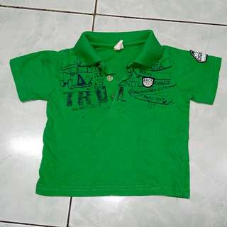 Green Poloshirt for Kids