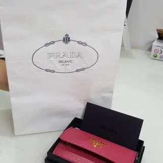 Brand New Real leather Prada key pouch