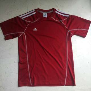 BN RED ADIDAS CLIMAX TEE