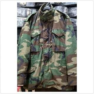 M65 Field Jacket Woodland Camouflage (Size Small Regular)