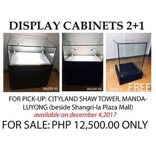 3 Showroom GLASS Display Cabinets