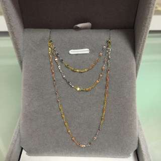18k Three Colours Necklace