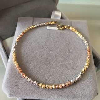 18k three colours gold bracelet