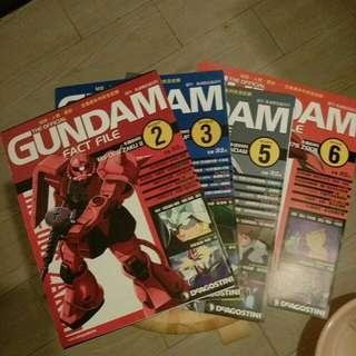 Deagostini Gundam fact file #2,3,5,6