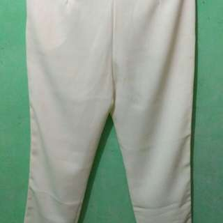 Stiped pants white