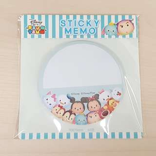 Disney Tsum Tsum Blue Colour Round Shape Sticky Memo Writting Note Pad