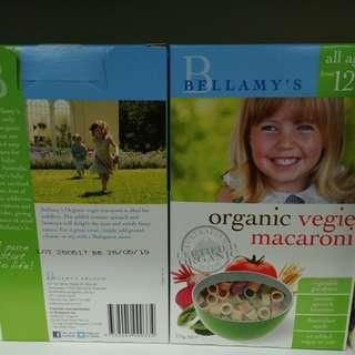 澳洲 Bellamys  有機蔬菜通心粉 12m+ 350g