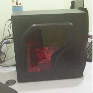cyclone custom pc budget gaming set (with monitor)