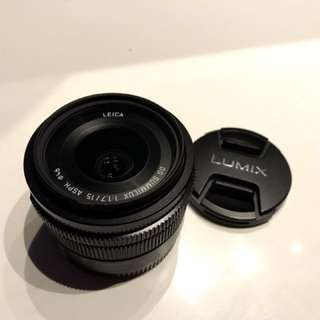 Panasonic Lumix Leica Lens 15mm F1.7