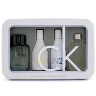 (READY STOCK)Original Calvin Klein CK 4 Pieces Miniature Perfume Collection Set for Men & Women
