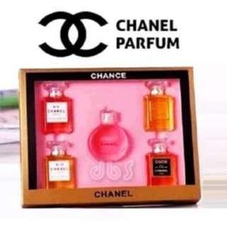 ORIGINAL Chanel Travel Perfume Set of 5