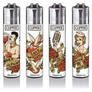 New Clipper Lighters old school tattoo edition (set of four)