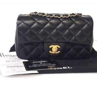 Authentic Chanel Classic Mini Rectangle Flap Bag