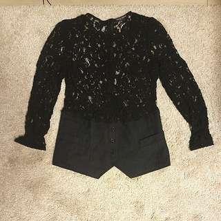 D&G New cool 型格 black lace top size M/L 原單