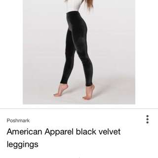 American Apparel Velvet Leggings