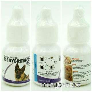 Obat kutu anjing devermect plus 5ml