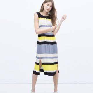 ZARA 條紋洋裝