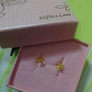 🚚 Earrings 24k taiwan gold