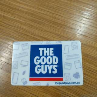 The Good Guys gift card $250 for $200