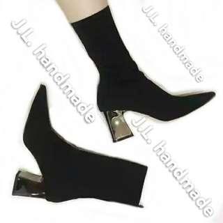 💋襪套靴💋襪子靴 長靴 短靴 跟鞋 跟靴 彈性靴 尖頭鞋 尖頭靴 粗跟靴