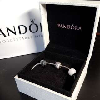 Pandora Essence bracelet with 3 charms