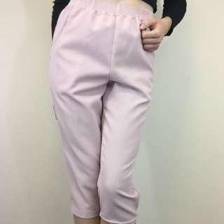 Pink Capri pants loose fitting size S