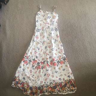 Summer Floral Dress Spaghetti Strap