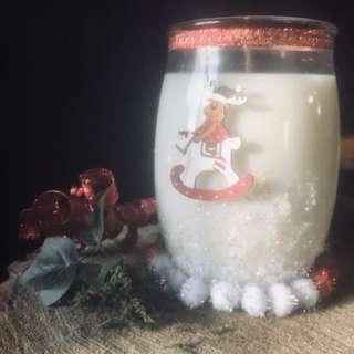 Christmas crystal candle