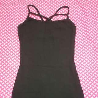 Black bodycon cocktail dress