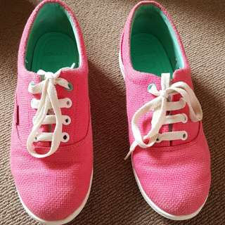 Crocs pink sneakers size 7