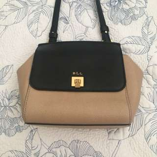 Leather Ralph Lauren Crossbody Handbag