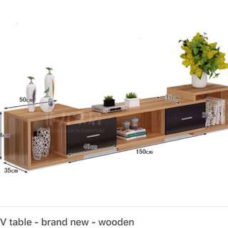 TV table — brand New — wooden