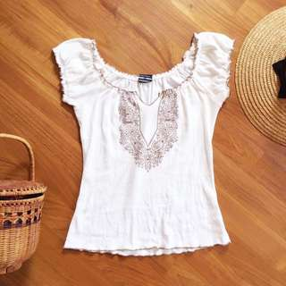 Glassons Boho Peasant Style Blouse