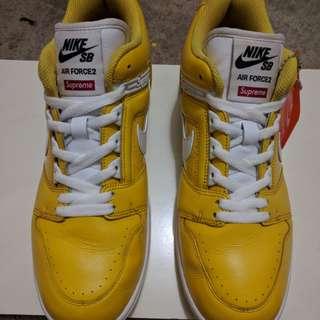 Supreme x Nike SB Air Force 2 - Yellow (10.5)