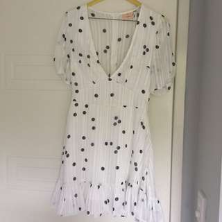 Dissh / princess Polly / verge girl polka dot dress size 6-8