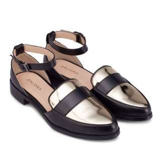 Zalora Cut Out Ankle Strap Loafers