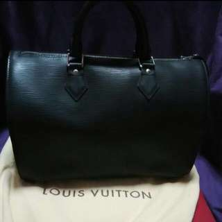 Louis Vuitton Speedy 35 Epi Leather Black
