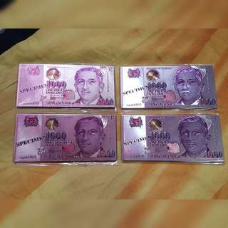 Singapore Currency Magnets