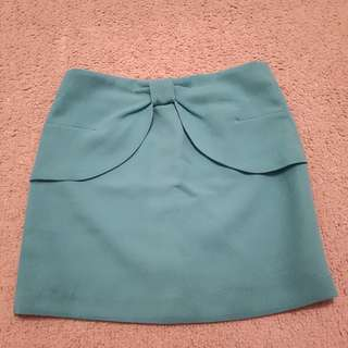 Torquois green skirt