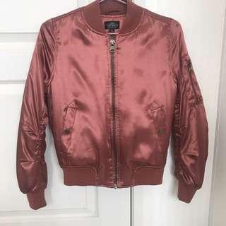 Metallic pink Topshop bomber jacket