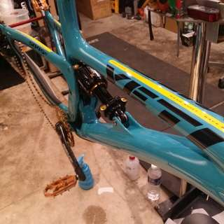Hexis Bodyfence film protection on a Yeti 29er