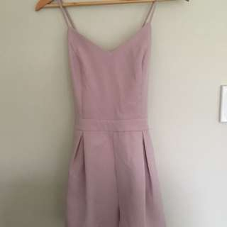 Nude/pink playsuit