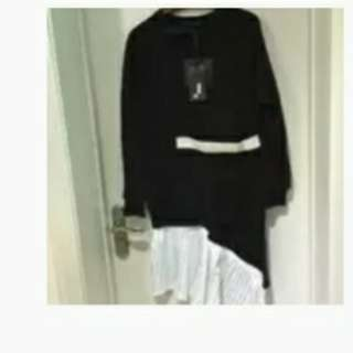 Miao miao正韓洋裝,不規則設計