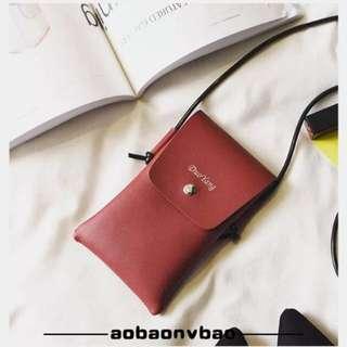 韓版個性掛脖手機袋 手機包斜跨包