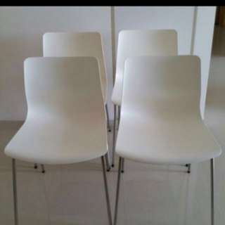 White ikea chair