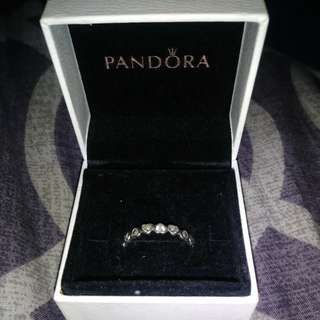 Pandora ring Size 8 - Forever more heart