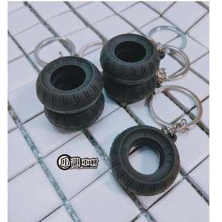 🚚 【小韻車材】輪胎 輪胎 汽車改裝 吊飾 套件 鑰匙圈 機車 汽車 鑰匙環